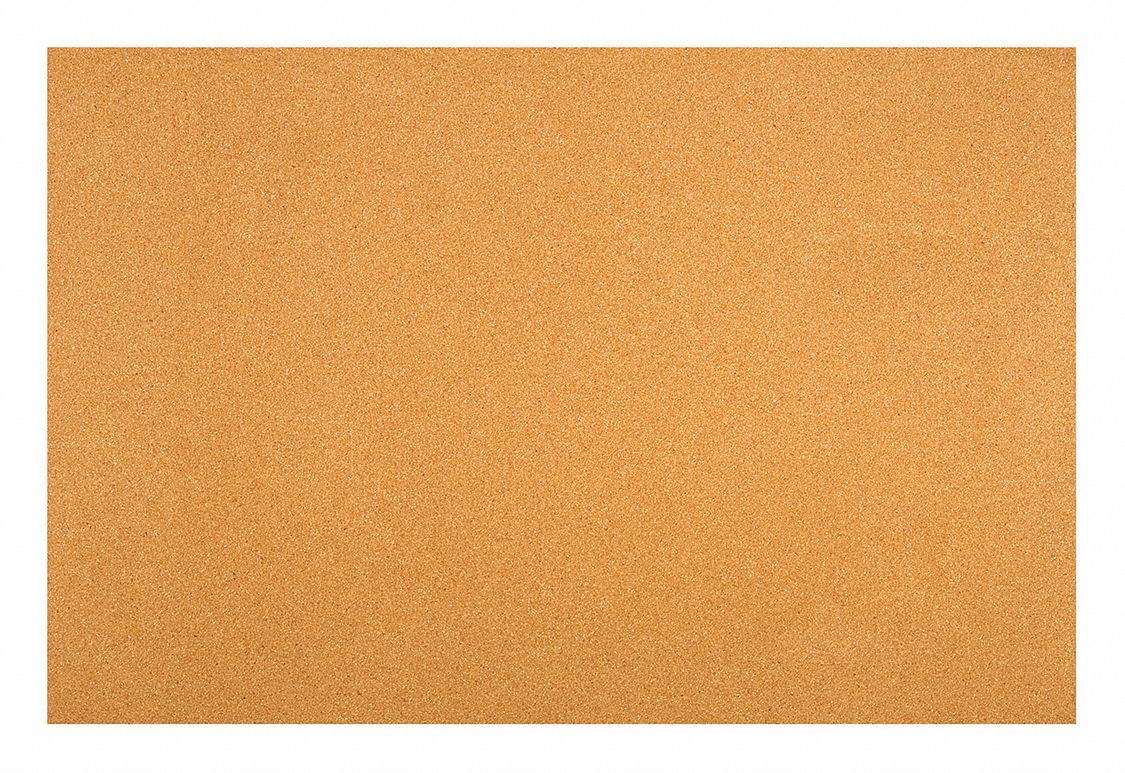 Cork Sheet, CR117, 6.0mm Th, 24 x 36 in - Pack of 5 by GRAINGER APPROVED