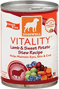 Dogswell Vitality Lamb and Sweet Potato Stew Dog Food, 13 Ounce - 12 per case.