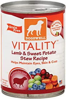 product image for Dogswell Vitality Lamb and Sweet Potato Stew Dog Food, 13 Ounce - 12 per case.