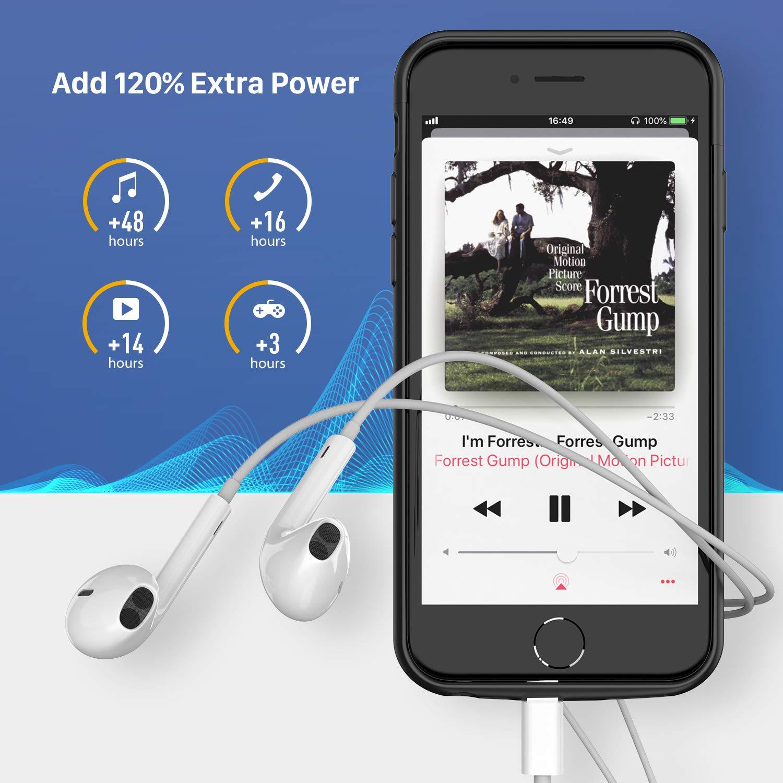 Amazon.com: Funda de batería recargable para iPhone 6, 6S, 7 ...