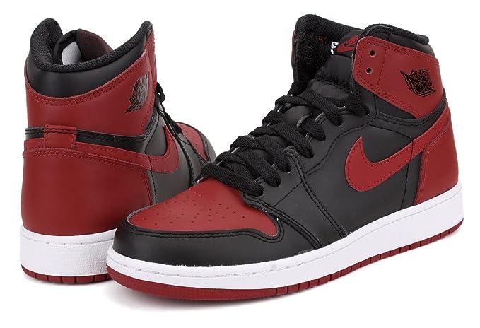 9c5ee9c6e56abf Amazon.com  Air Jordan 1 Retro OG  Banned  575441 001 (Black Varsity  Red-White) (6Y)  Jordan  Sports   Outdoors