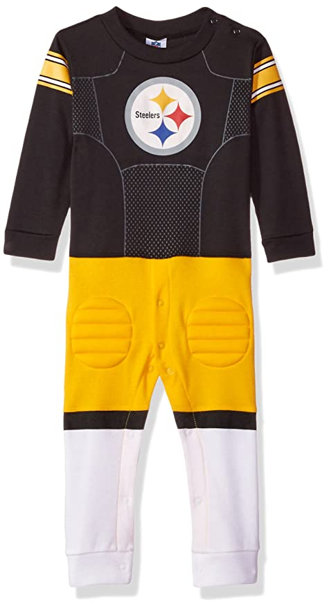 ec006ef322b53 Amazon.com : NFL Pittsburgh Steelers Unisex-Baby Footysuit Coverall ...