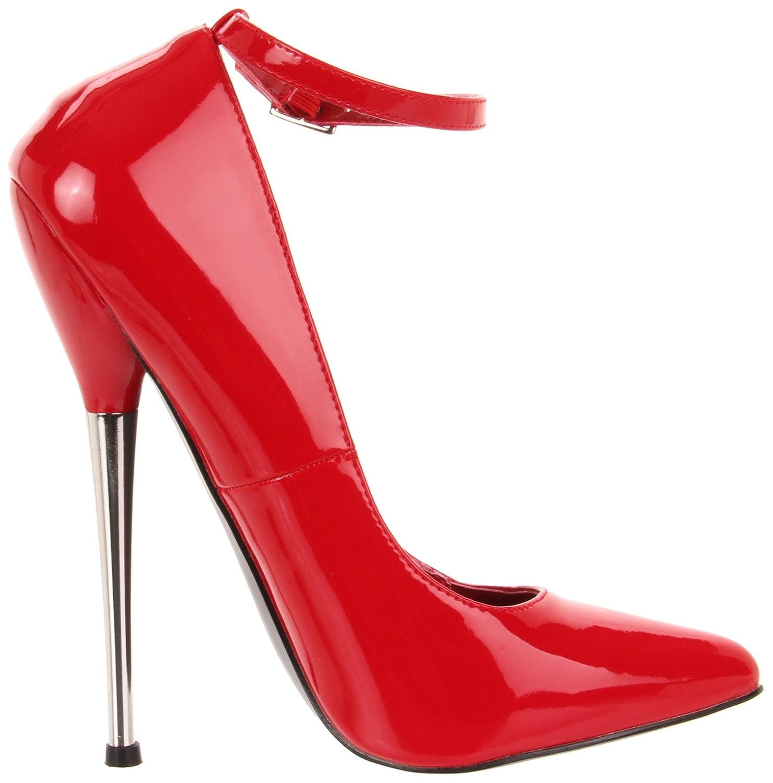 Devious DAGGER-12 Damen Lack Extrem High Heels, Lack Damen Rot, EU 44 (US 13) - 769b3e