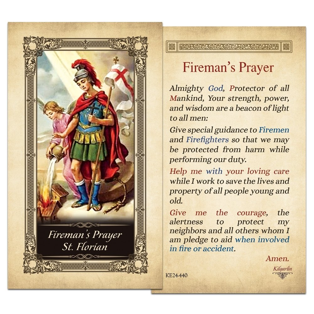 Fireman's Prayer St. Florian Laminated Prayer Card