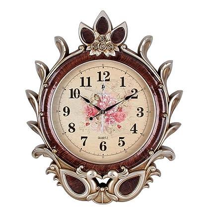 Wall clock Relojes de Pared Clásicos del Arte casero Reloj de Pared de la Sala de