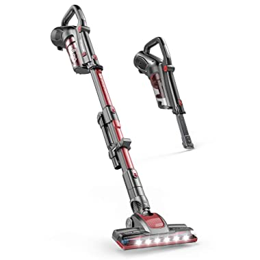 ROOMIE TEC Cordless Stick Vacuum Cleaner with Stand-Alone Battery, HEPA Filter for Pet Hair, 2 in 1 Handheld Dust Buster with Powerful Suction, Low Reach Design & LED Headlights