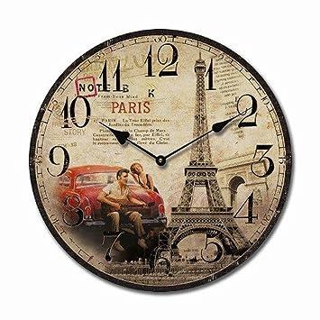 PARIS HORLOGE MURALE QUARTZ DE CUISINE MODERNE HORLOGE Elvis ...