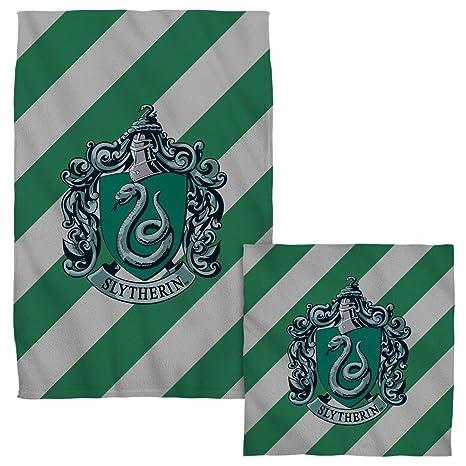 Slytherin Escudo – -Harry Potter – -Cara y juego de toallas de mano (