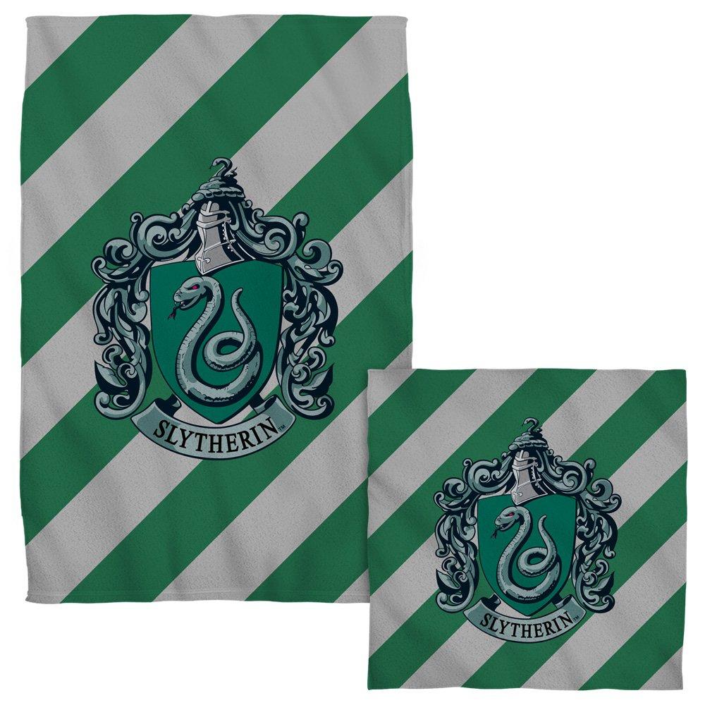 Slytherin Crest -- Harry Potter -- Face & Hand Towel Set