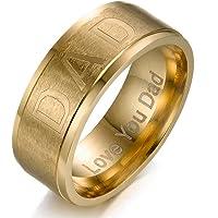 Y-YING サージカル ステンレス メンズ リング 指輪 結婚 指輪 かっこいい 男性用指輪 DAD