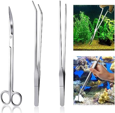 Acero Inoxidable Acuario Planta De Tanque Vivo Sustrato Esp/átula Aquascaping Kit