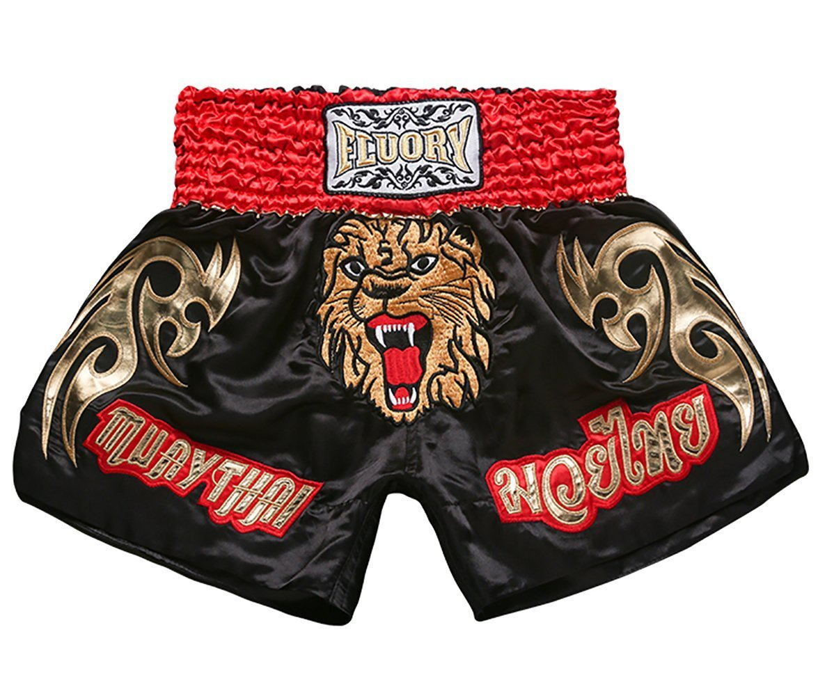 Mtsf14hei Small FLUORY Muay Thai Fight Shorts,MMA Shorts Clothing Training Cage Fighting Grappling Martial Arts Kickboxing Shorts Clothing
