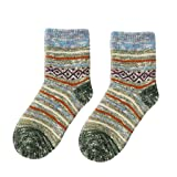 DEATU Sale A Pair Striped Cotton Socks Women Ladies Youth Colorful Thicker Warm Socks Anti-slip Floor Carpet Socks