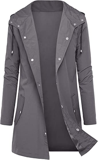 Men/'s Outdoor Waterproof Quick Dry Loose Jacket Long Sleeve Hooded Outwear Coat