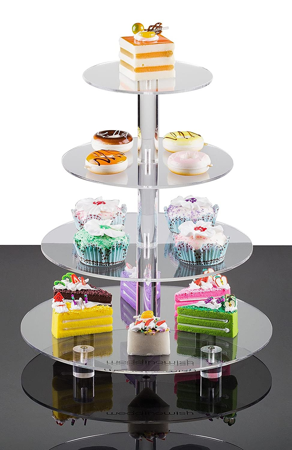 4-Tier Square Cupcake Stand By weddingwish Acrylic Tiered Cake Stand ...