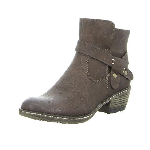 Rieker 93766-25 - Botas de Vaquero de Material Sintético Mujer, Color Marrón, Talla 43 EU: Amazon.es: Zapatos y complementos