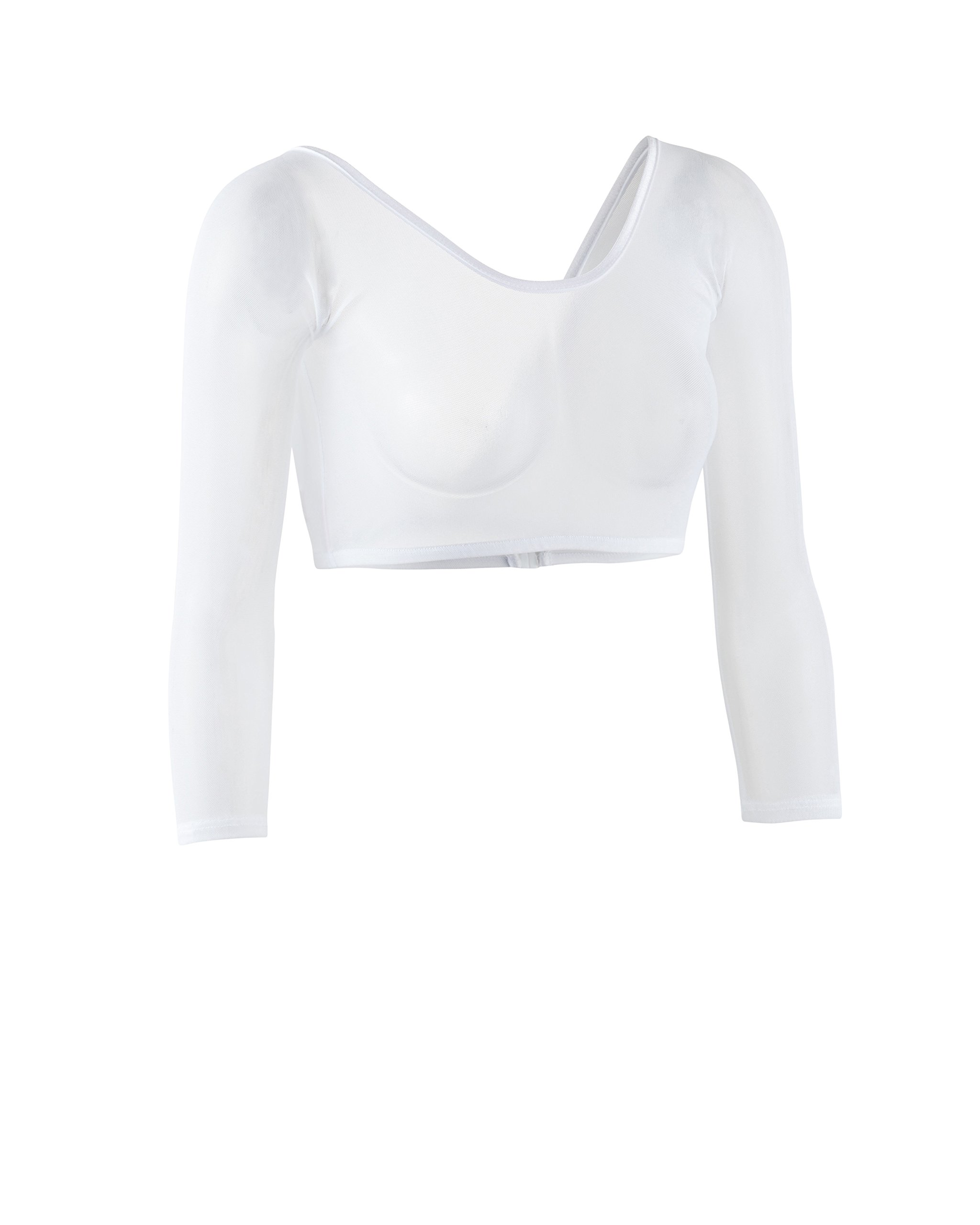 Sleevey Wonders Women's Basic 3/4 Length Slip-on Mesh Sleeves XL White by Sleevey Wonders (Image #2)