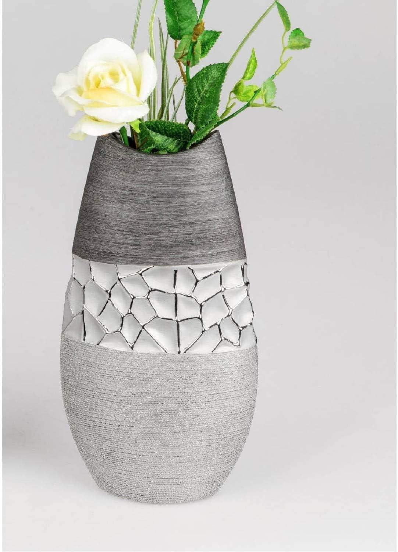 Formano 739827 Vase Argent/é//Gris 28 cm