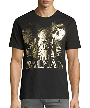 93537ad5 Pierre Balmain Fish & Logo Gold Print Tee, Black (Regular Price $250) (
