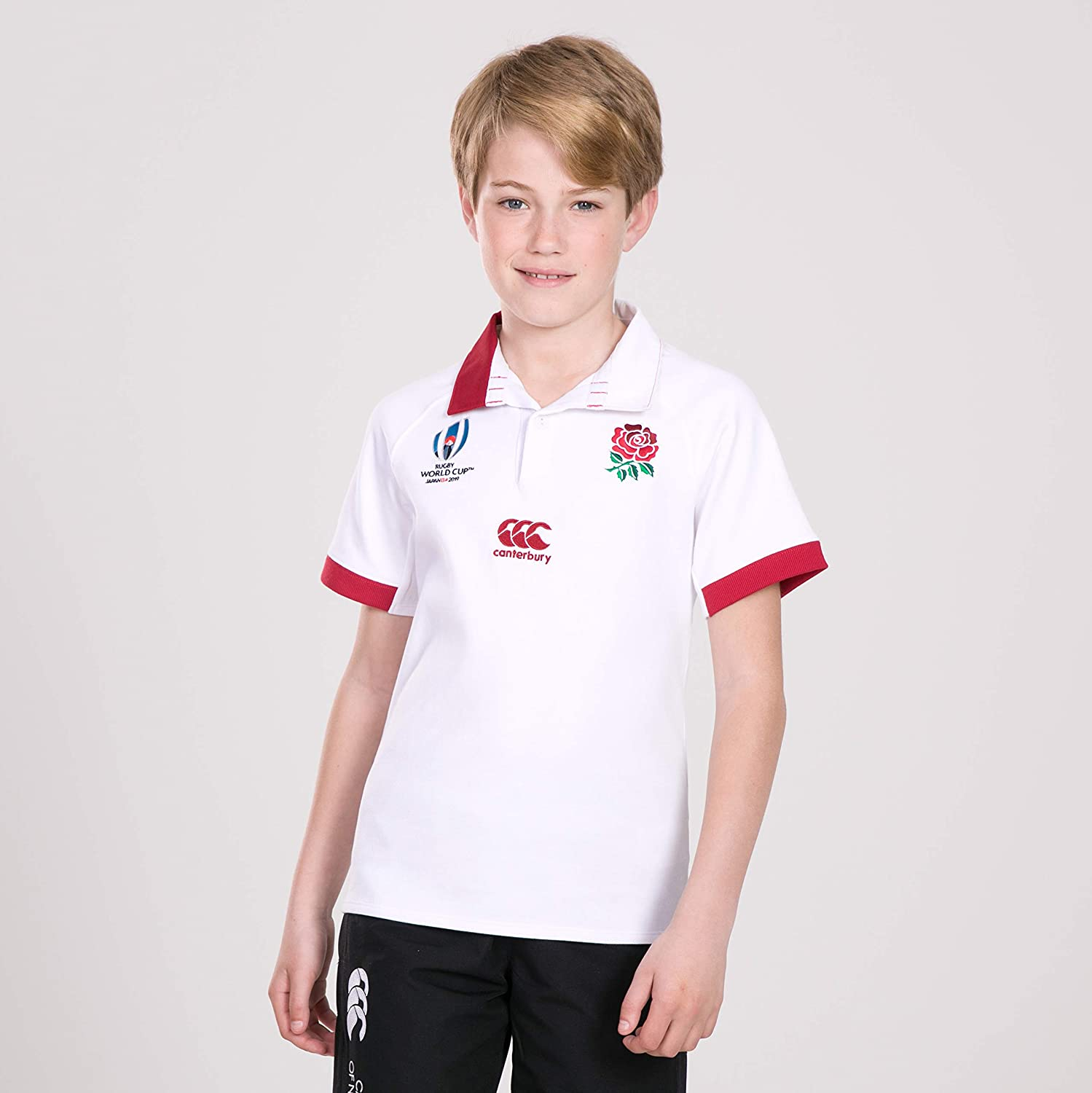 Canterbury of New Zealand Kids England World Cup 2019 Vapodri Home Rugby Jersey, Bright White, Size 12: Amazon.es: Ropa y accesorios