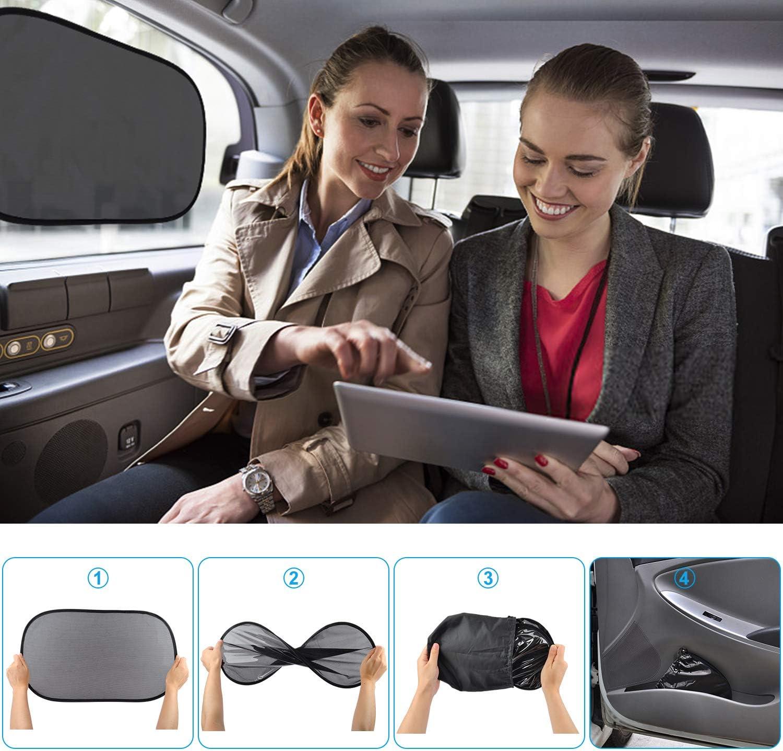 Doppelseitiges UV Schutz Autofenster Sonnenschutz einfache Installation Reduziert W/ärme und UV-Strahlung Kuyang Auto Sonnenschutz 2 St/ück