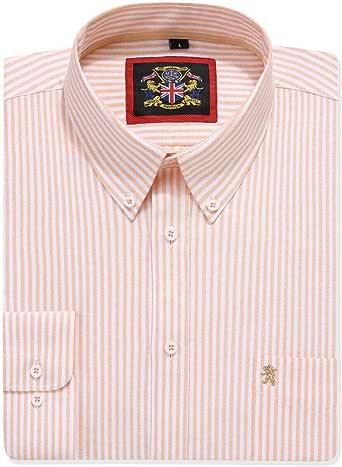 Camisa de manga larga para hombre, cuello inglés Oxford con botón y bolsillo.12 colores lisos y a juego con la versión de patrón de rayas. Combo de dos o individuales. Tela Oxford