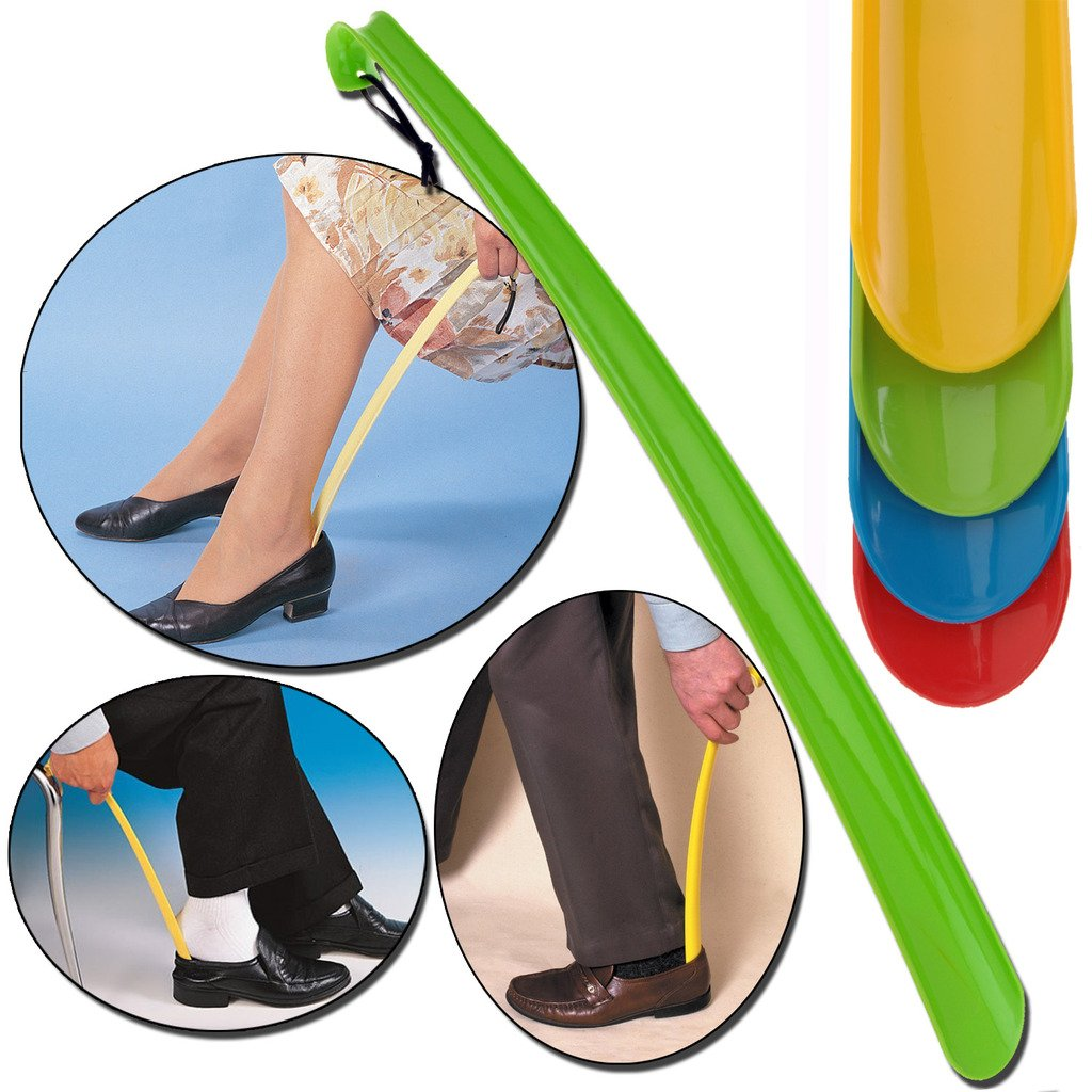 EXTRA LONG 57cm PLASTIC SHOE HORN REMOVER DISABILITY MOBILITY AID FLEXIBLE STICK by Guaranteed4Less