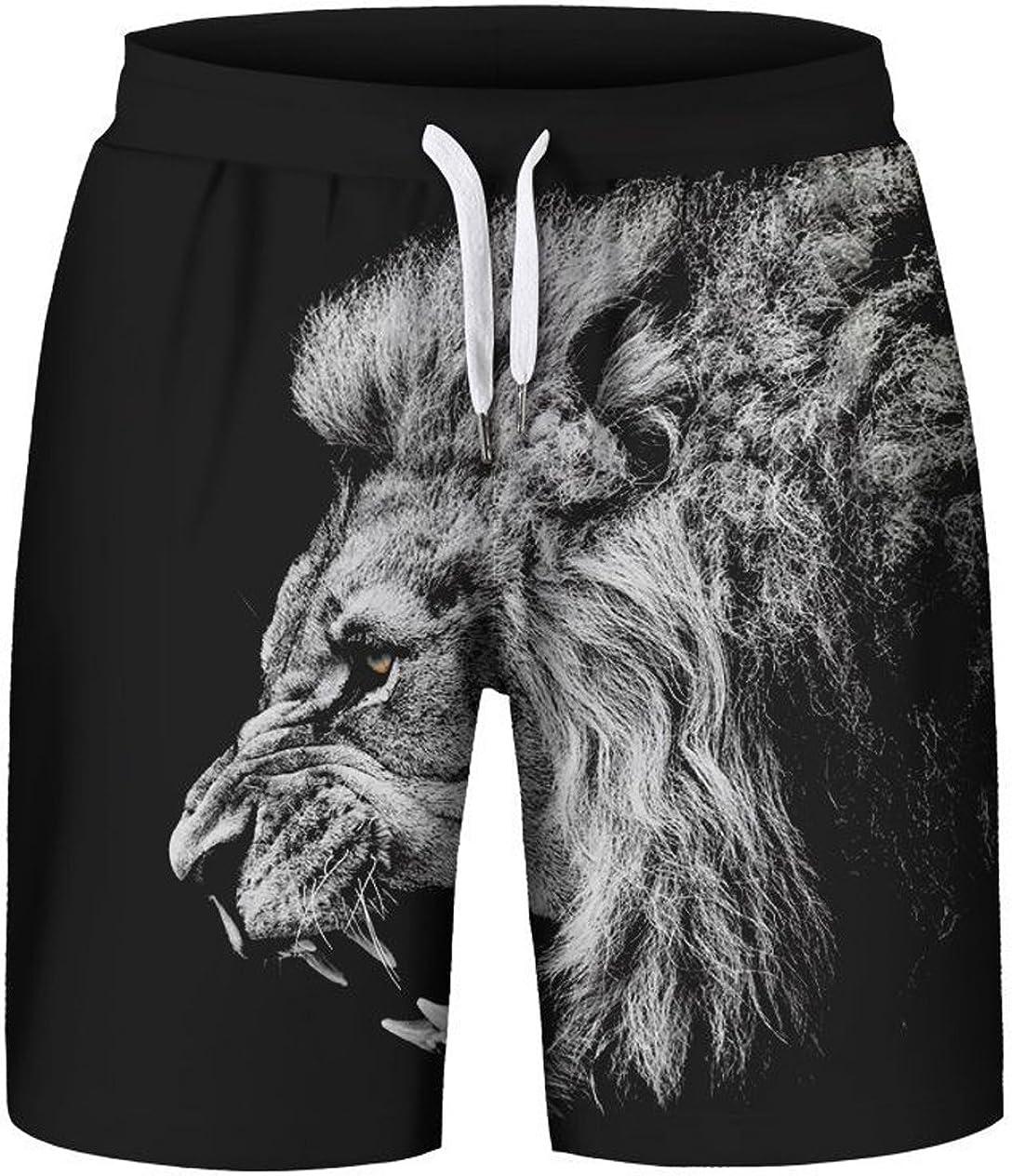 HOP FASHION Unisex Print Drawstring Shorts Summer Beach Baskestball Pants