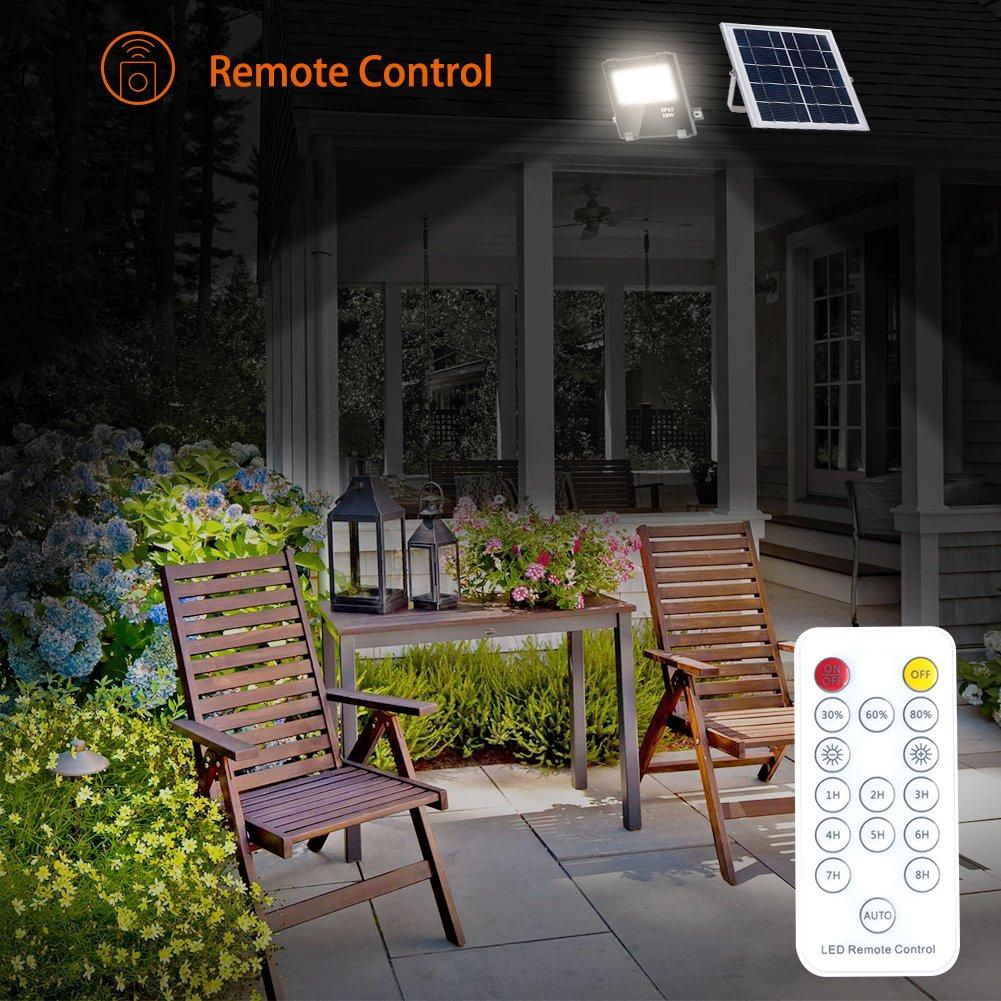 Solar LED Lights Remote Control, 25 led Pool Light,Waterproof Garden Solar Powered Flood Lights