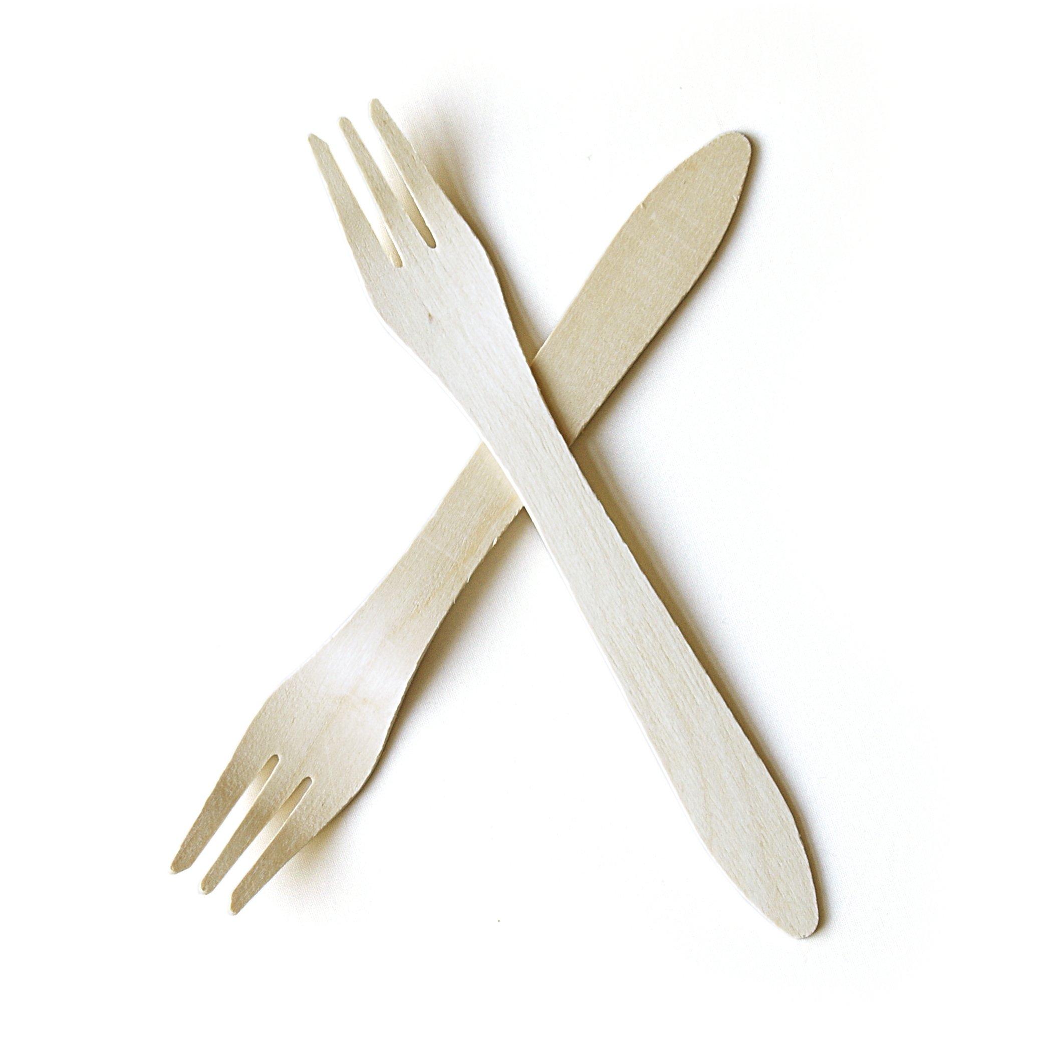 """Leafware Forks (100 Pack), 7"""", Natural"""