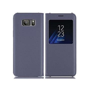 Lincivius Funda Samsung S8, [Flip Cover View] Carcasa Samsung Galaxy S8 con Tapa A Libro Finestra Estuche Resistente Anti Golpes Accesorios