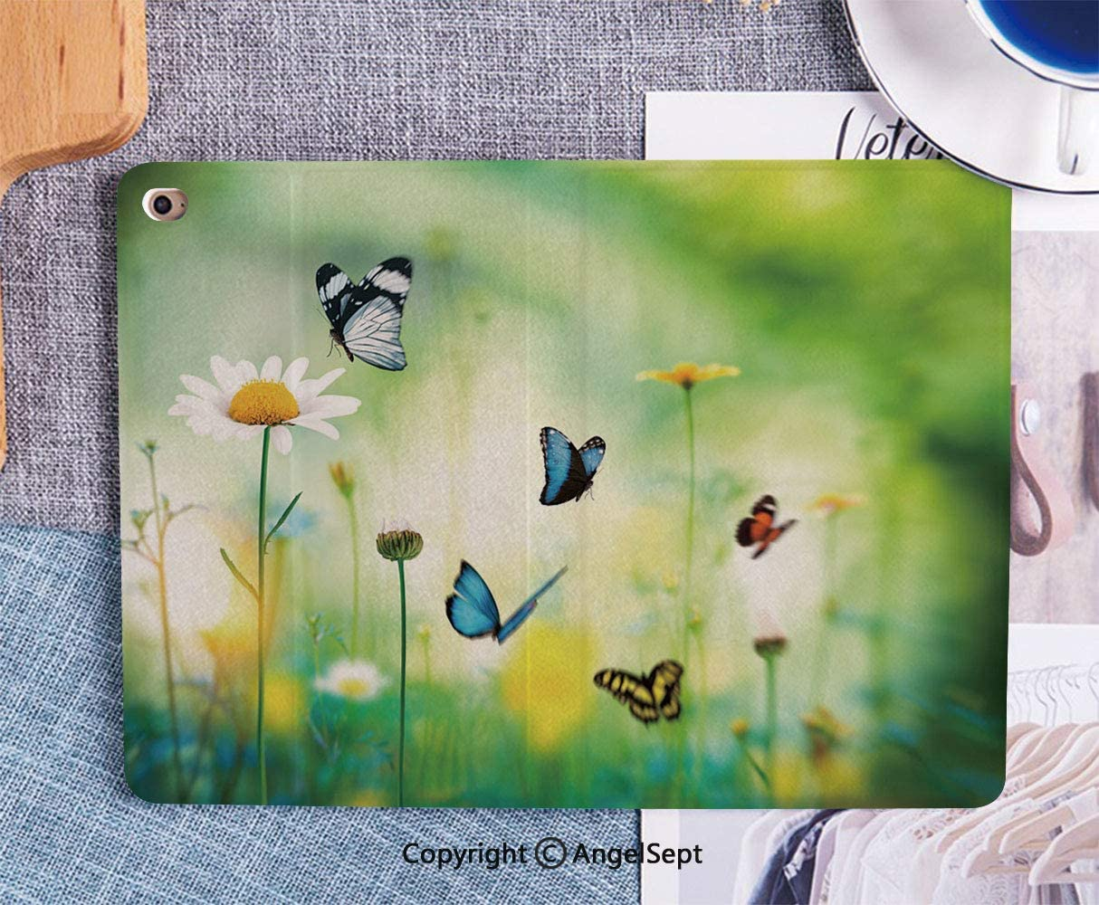 Printed Smart Case for iPad 9.7 2018/2017,Lightweight Smart Cover with Auto Sleep/Wake,Hard Back Cover for iPad 9.7 iPad 5th / 6th Generation,Meadow Stock Image