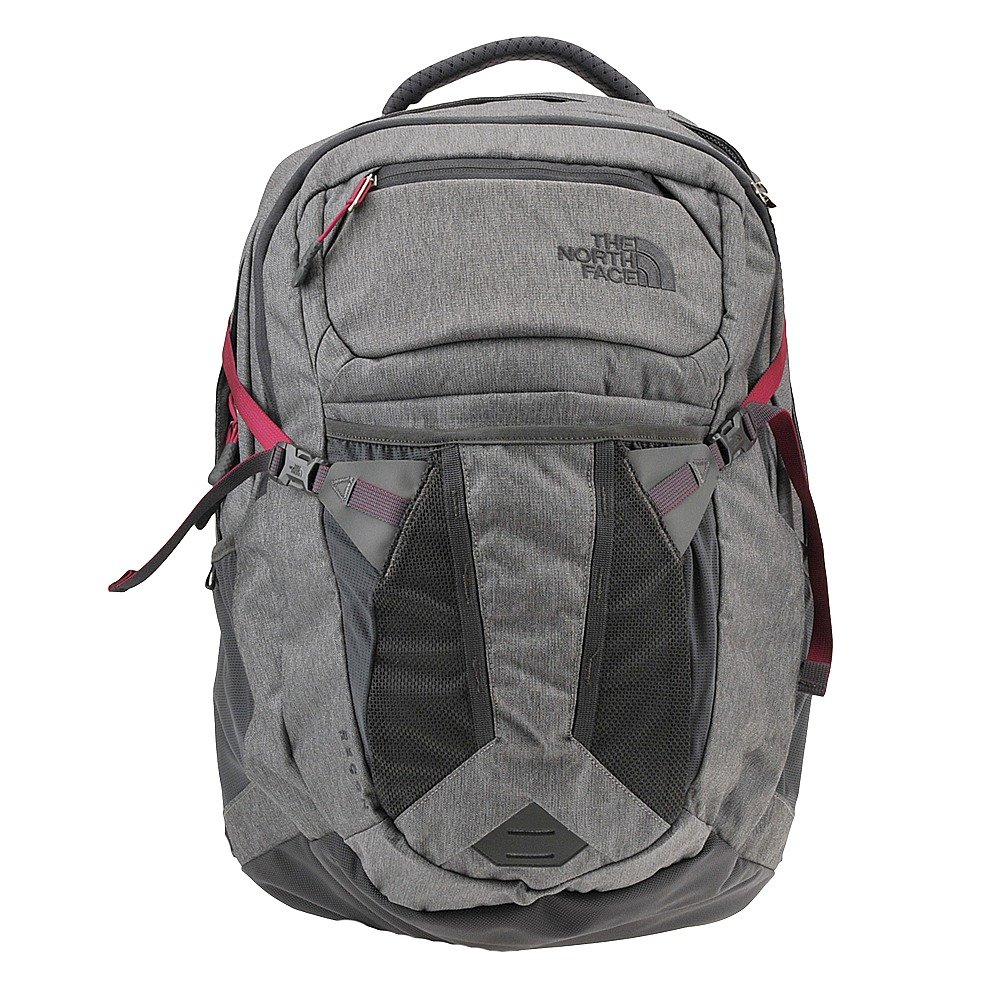 The North Face Womens Recon Backpack (Zinc Grey Heather/Dramatic Plum) by The North Face