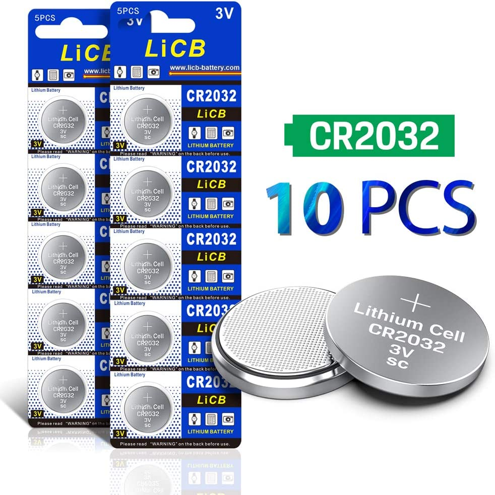 Baterias LiCB CR2032 3V Lithium  (10 unidades)