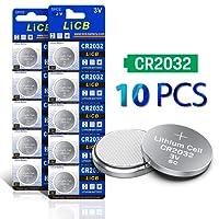 LiCB CR2032 3V Lithium Battery 10-pack