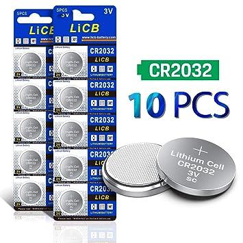 Unika Amazon.com: LiCB CR2032 3V Lithium Battery(10-Pack): Health GB-39