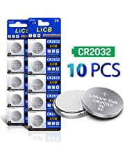 LiCB CR2032 3V Lithium Battery 10-Pack
