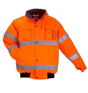 L&H Warnjacke PILOTENJACKE Arbeitsjacke Warnschutzjacke