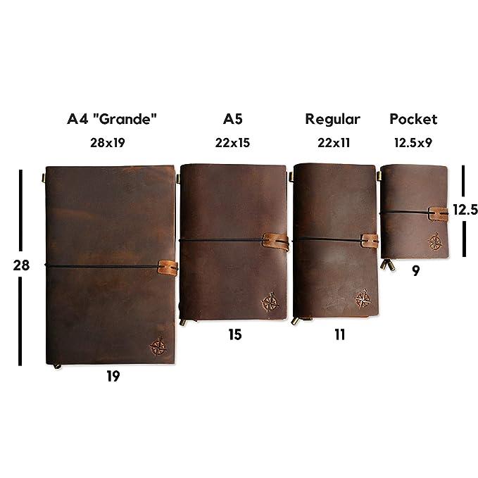 Amazon.com: Cuaderno de piel recargable, perfecto para ...