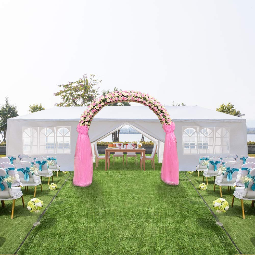 Teekland 10'x30' Outdoor Canopy Party Wedding Tent,Sunshade Shelter,Outdoor Gazebo Pavilion with 8 Removable Sidewalls Upgraded Thicken Steel Tube (10' x 30' / 8 Removable Sidewalls-1) by Teekland (Image #2)