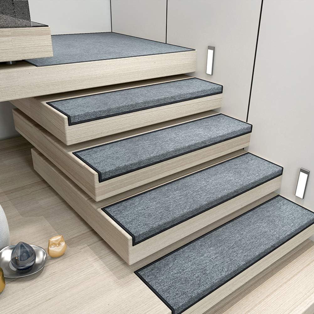 PLLXY Antideslizante Alfombras para Escaleras Conjunto De 15, Durable Almohadillas De Escalera con Respaldo Autoadhesivo Interior Non Skid Runner Mat Moquetas-Verde 30x100cm(12x39inch): Amazon.es: Hogar