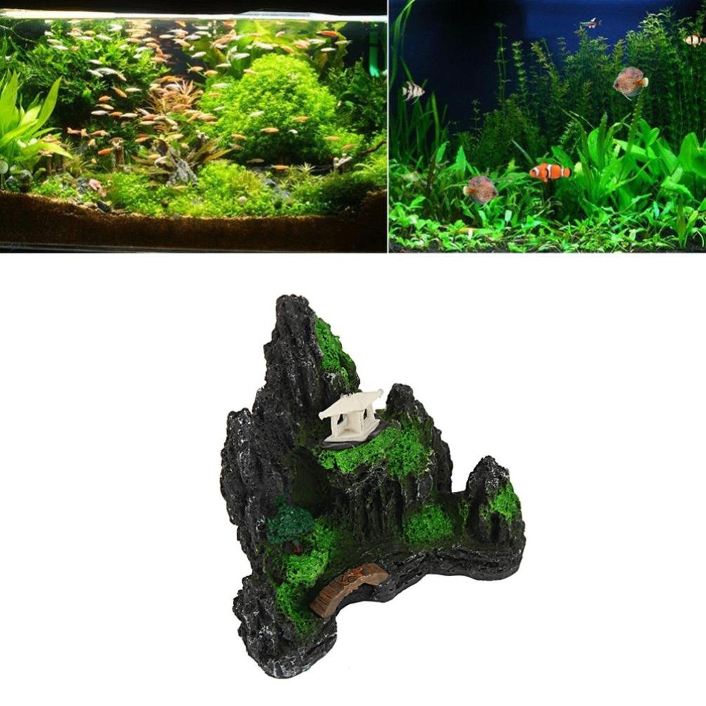 SO-buts Figura decorativa para acuario, acuario, pecera, pecera, resina, castillo, decoración de torre: Amazon.es: Productos para mascotas
