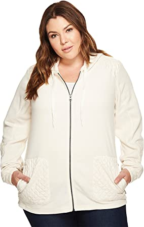 9584a1d9e943b Columbia Women s Plus Size Warm Up Hooded Fleece Full Zip Jacket at ...