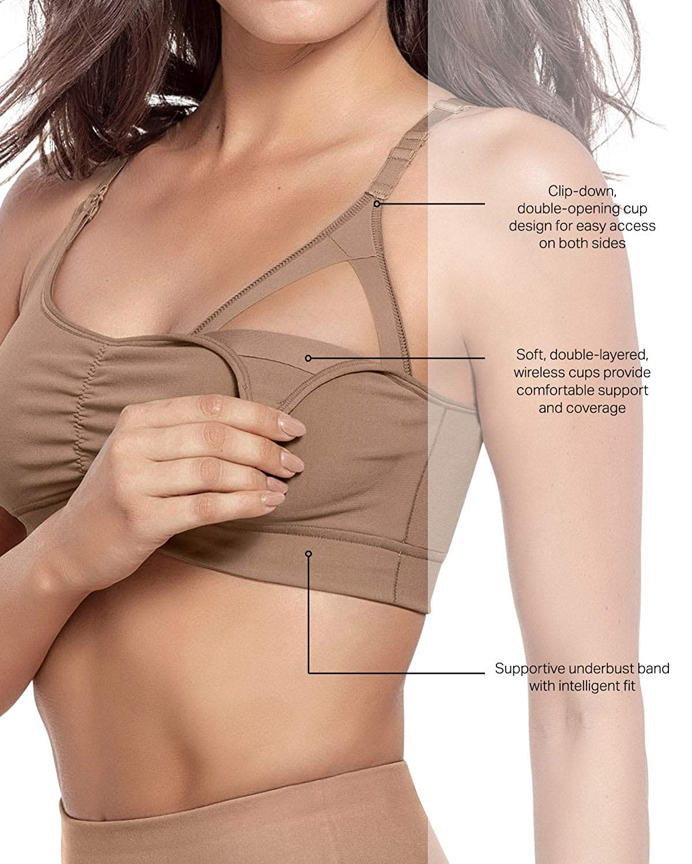 8e2ac9060 Leonisa Women s Super Comfy Everyday Nursing Bra at Amazon Women s Clothing  store