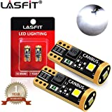 LASFIT 194 168 T10 192 2825 W5W LED Bulb Canbus Error Free, Non-Polarity 400LM 6000K Extremely Bright for Dome Map Courtesy Door License Plate Trunk Cargo Lights, Xenon White (Pack of 2)