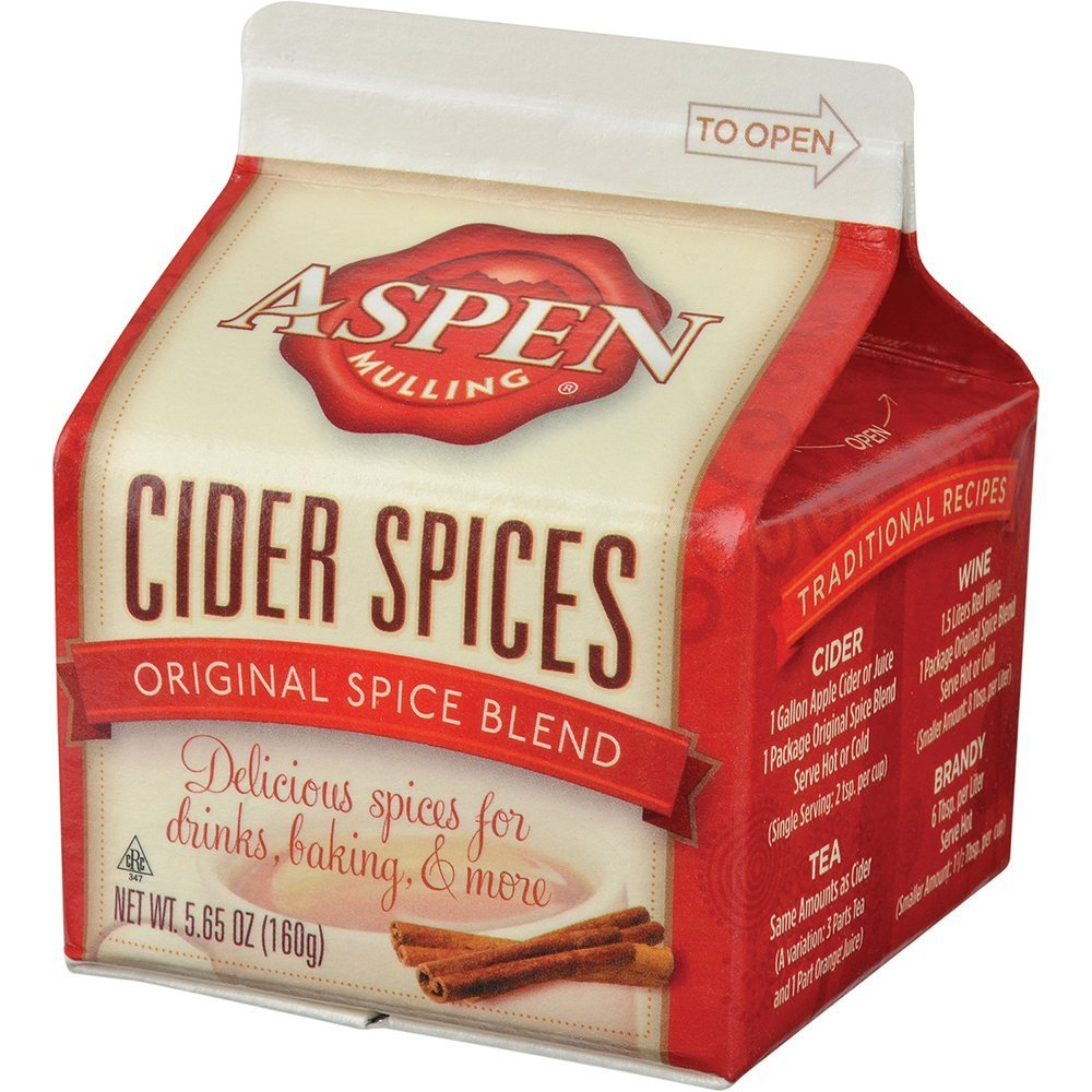 Aspen Mulling Cider Spices, Original Blend, 5.65-Ounce Carton
