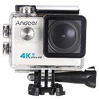 """Action Cam 4k Andoer Action Camera ,Videocamera WIFI Ultra HD 1080p / 60 fps,Fotocamera Subacquea 16 MP Impermeabile WebCamera 173°Grandangolare 2.0"""" Schermo LCD con Vari Accessori Kit"""