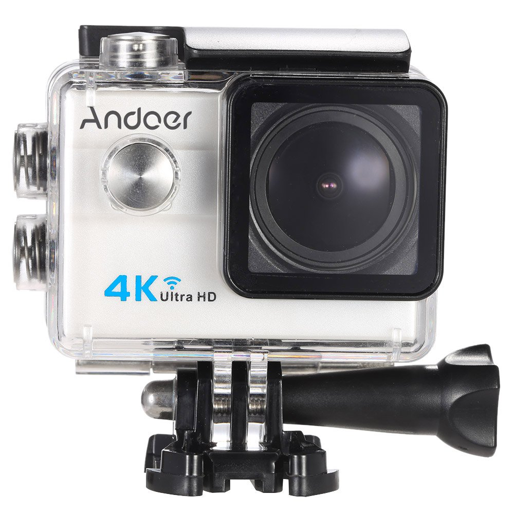 Andoer Ultra HD Action Sports Camera 2.0'' LCD 16MP 4K 25FPS 1080P 60FPS 4X Zoom WiFi 25mm 173 Degree Wide-Lens Waterproof 30M Car DVR DV Cam Diving Bicycle Outdoor Activity
