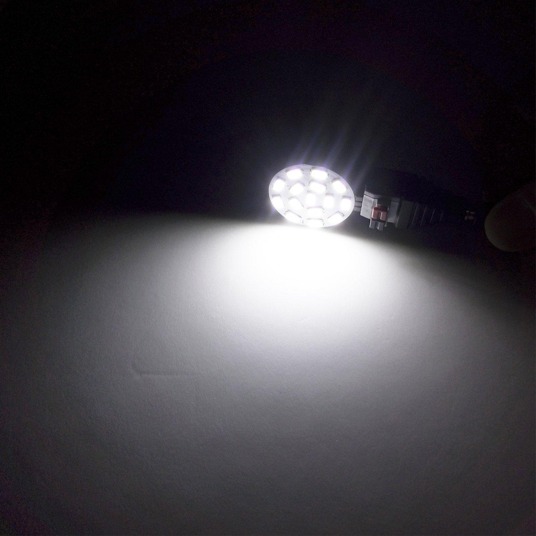 CTKcom 2W MR11 GU4 LED Bulb 6 Pack LED Flood Light Bulb SMD2835 12-LEDs 12VAC//DC 20-25W Halogen Bulbs Equivalent 6000K Cool White 200LM LED Spot Light Bulb for Home Indoor Offices Lighting,Pack of 6