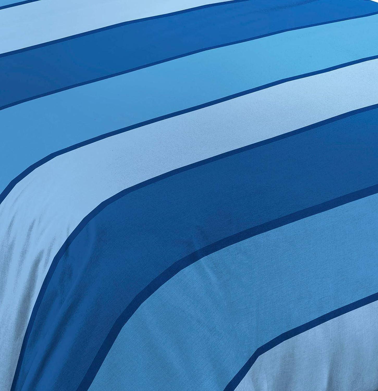 Edred/ón Estampado a Rayas Fabricado en Italia Colcha cubrecama de algod/ón para Cama de Matrimonio Homelife Colcha Fina de Verano y Primavera para Cama de 150 cm Azul 260x280